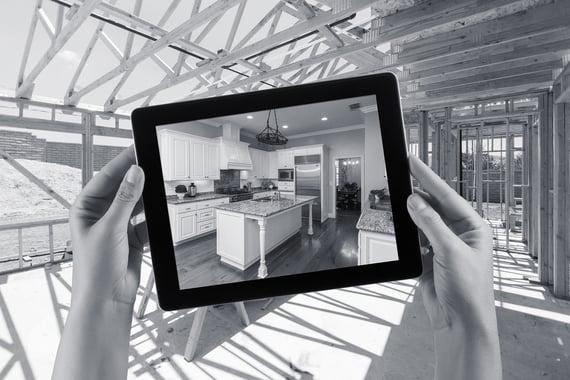 Nettbrett tar bilde av kjøkken