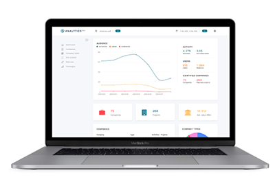 Laptop med Analytics Pro